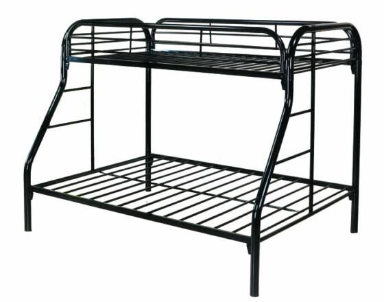 piedmont metal frame twin over full bunk bed in michigan. Black Bedroom Furniture Sets. Home Design Ideas