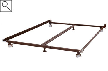 Eastern King Rest Rite Metal Platform Bed Frame