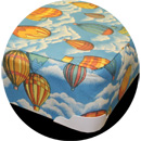 bunkie mattress with balloons fabric