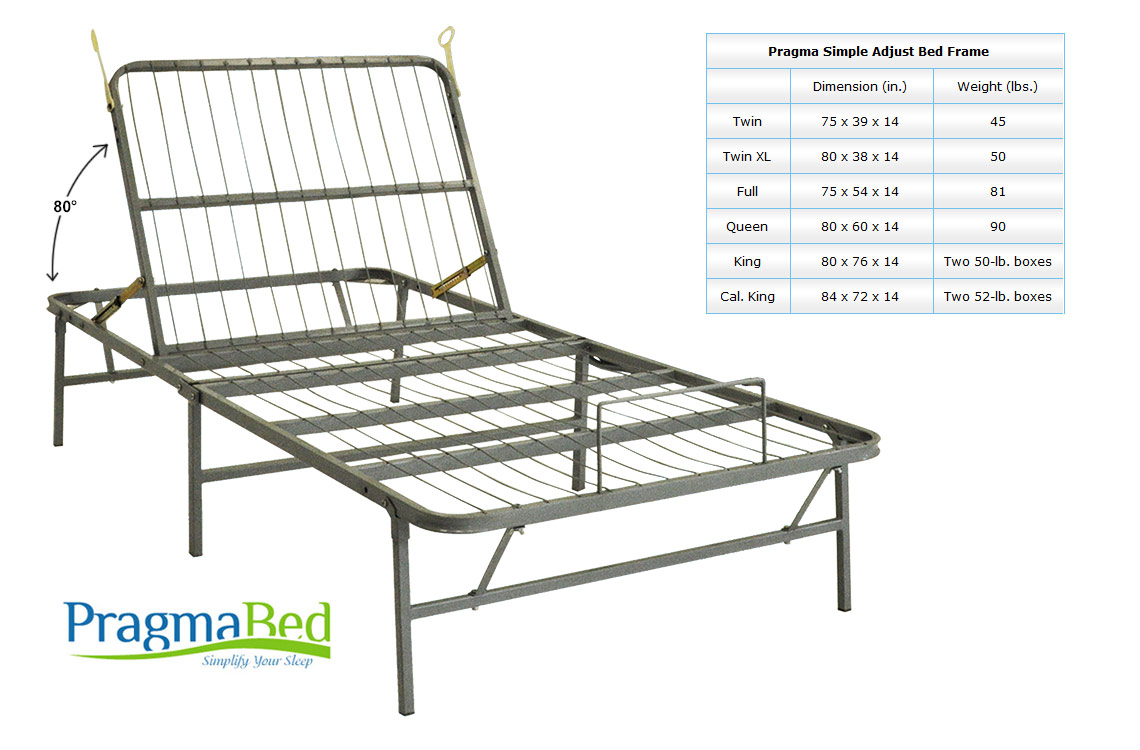 Adjustable Beds That Raise And Lower : Light weight adjustable metal bed frame