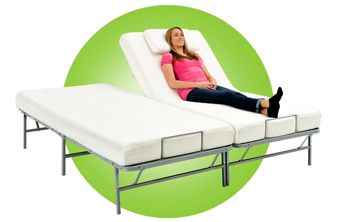 girl relax on adjustable bed - Adjustable Beds Frames