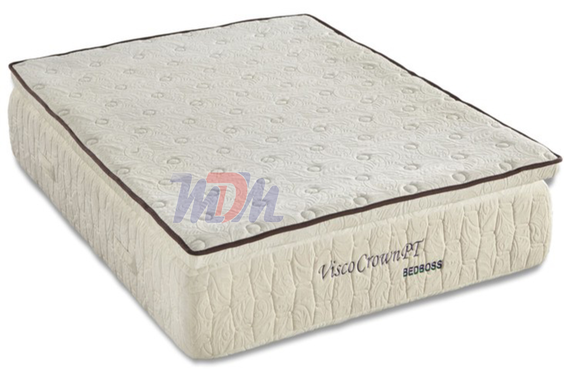 Crown pillowtop memory foam mattress from the bed boss Discount foam mattress