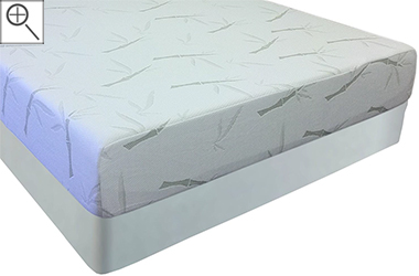 10 Inch Slumber Pedic Bamboo Cover Memory Foam Mattress
