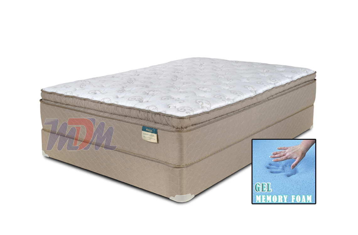 Dorchester gel infused pillow top a pocket coil mattress for Best foam mattress