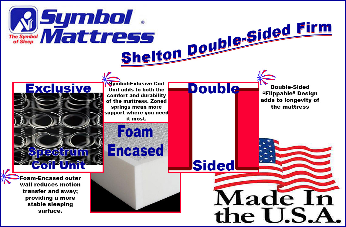 Double sided shelton firm a comfortec mattress symbol comfortec shelton mattress features best cheap affordable firm double sided mattress biocorpaavc Choice Image