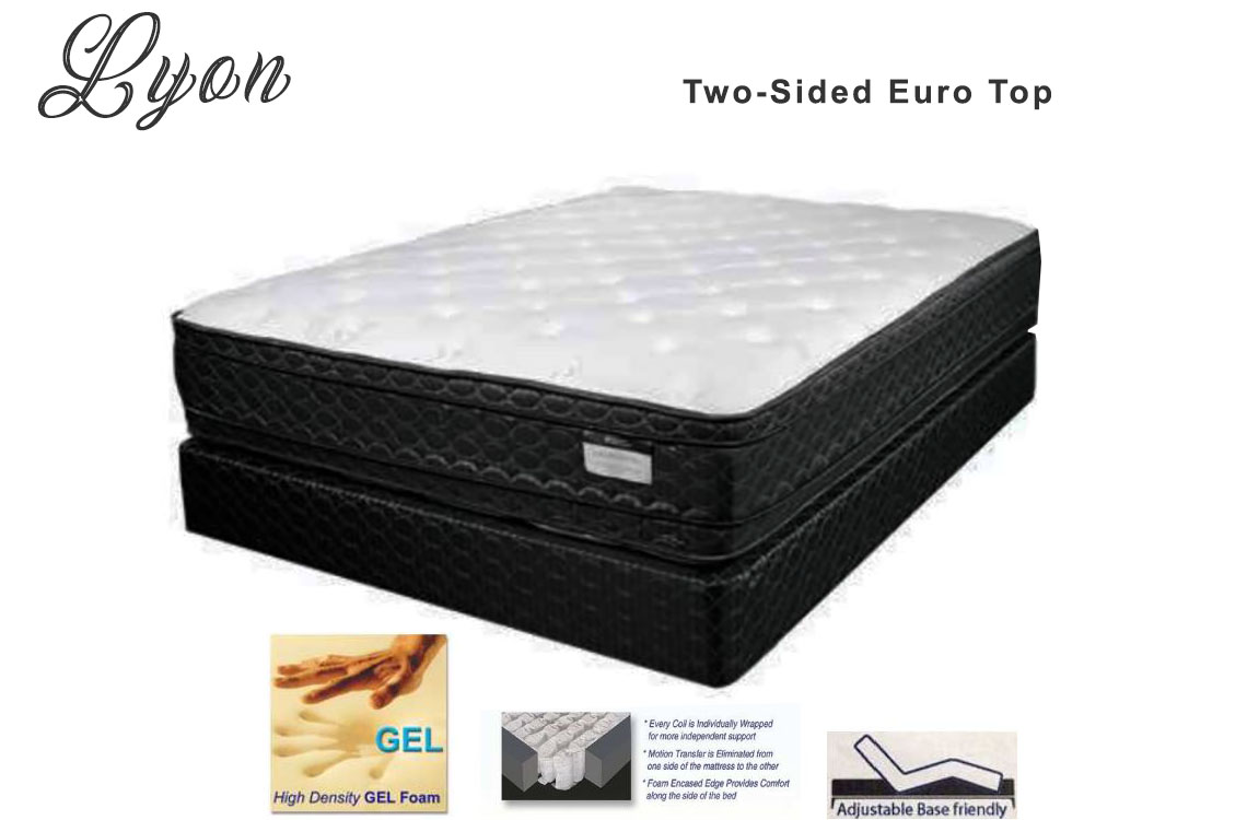 Best mattress prices online the lyon euro top is a low cost mattress that offers such premium features as gel foam two sided design pocket coil innerspring unit and an organic biocorpaavc Choice Image
